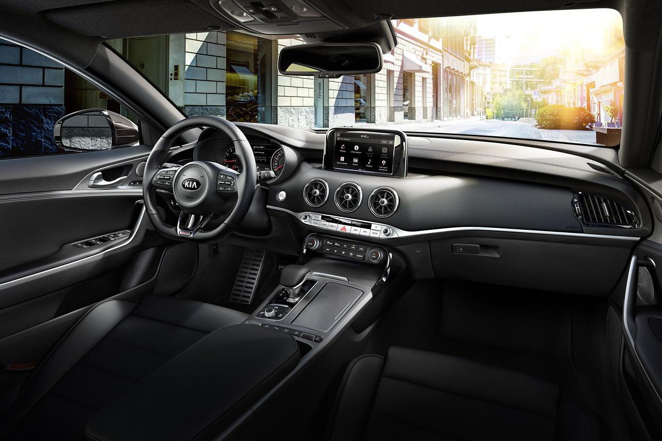Interior of the 2019 Kia Stinger