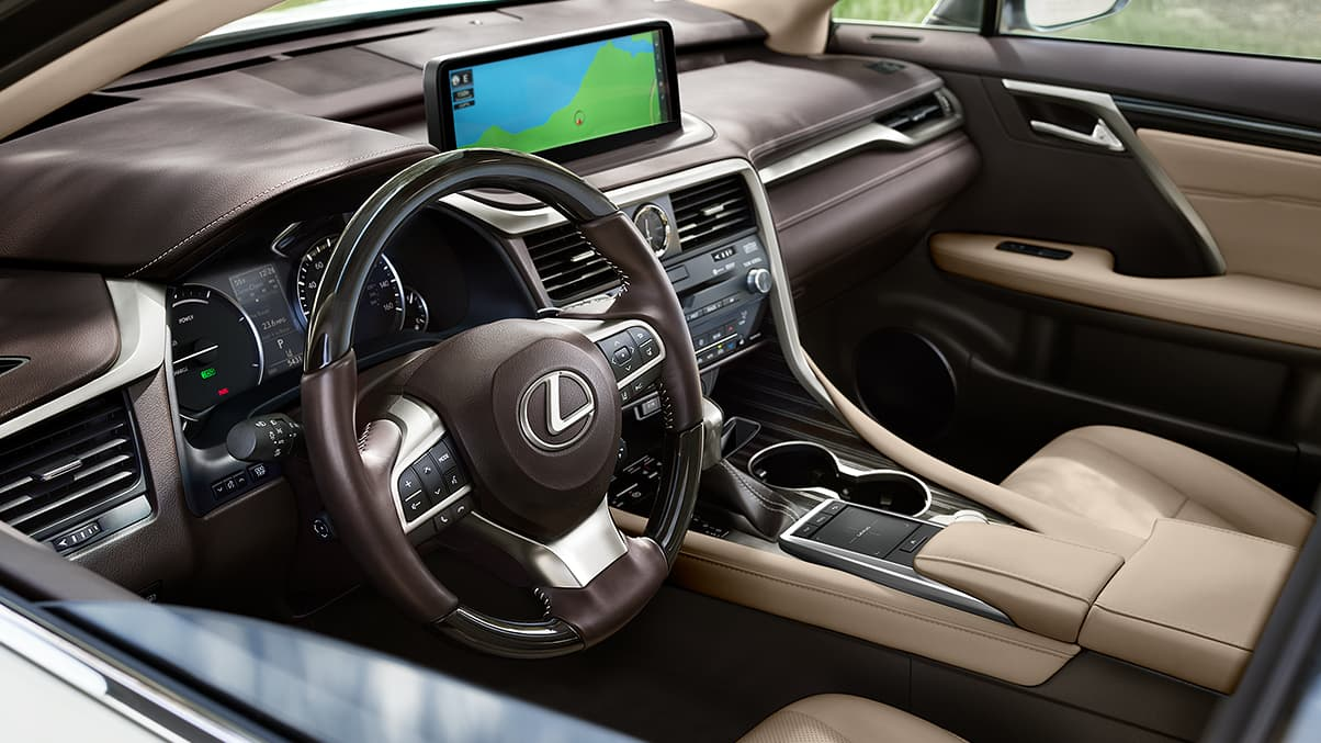 Interior of the 2020 Lexus RX 350