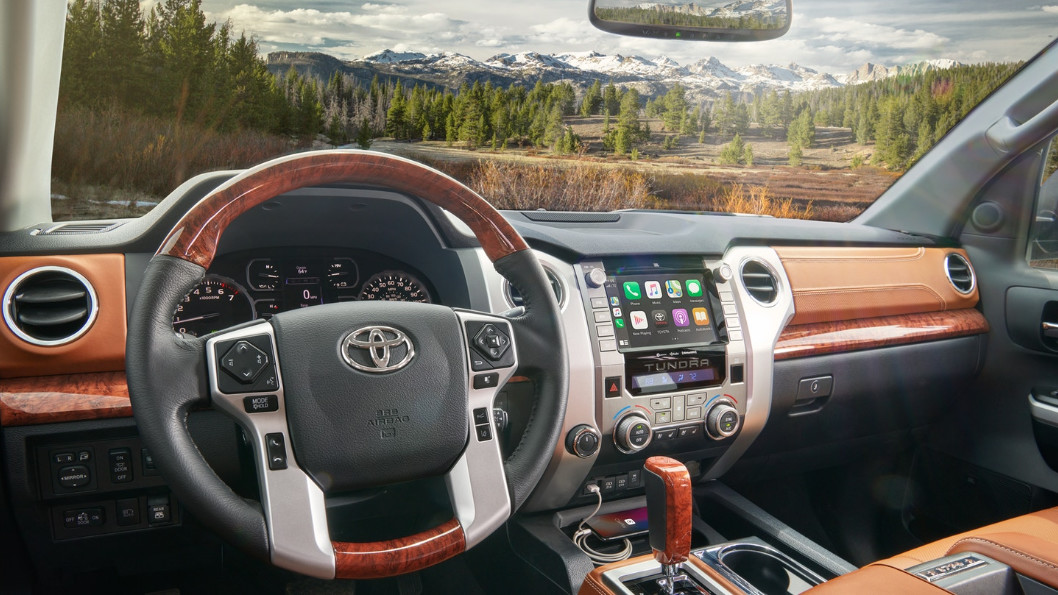 Cockpit of the 2020 Toyota Tundra