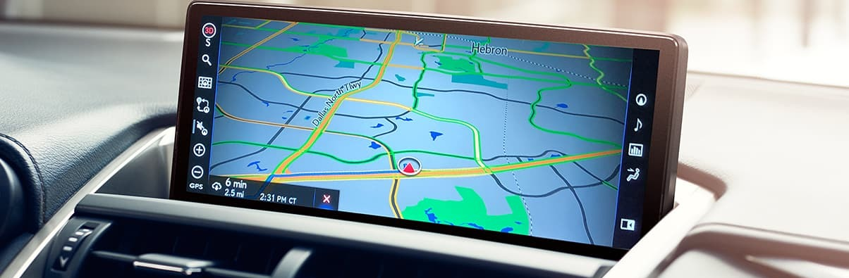 Available Navigation in the 2020 NX 300