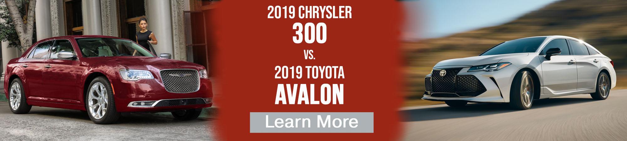 2019 Chrysler 300 vs 2019 Toyota Avalon