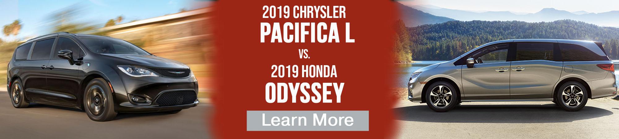 2019 Chrysler Pacifica vs 2019 Honda Odyssey