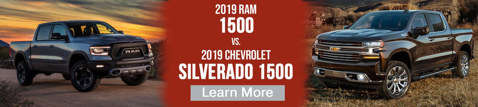2019 Ram 1500 vs 2019 Chevrolet Silverado 1500