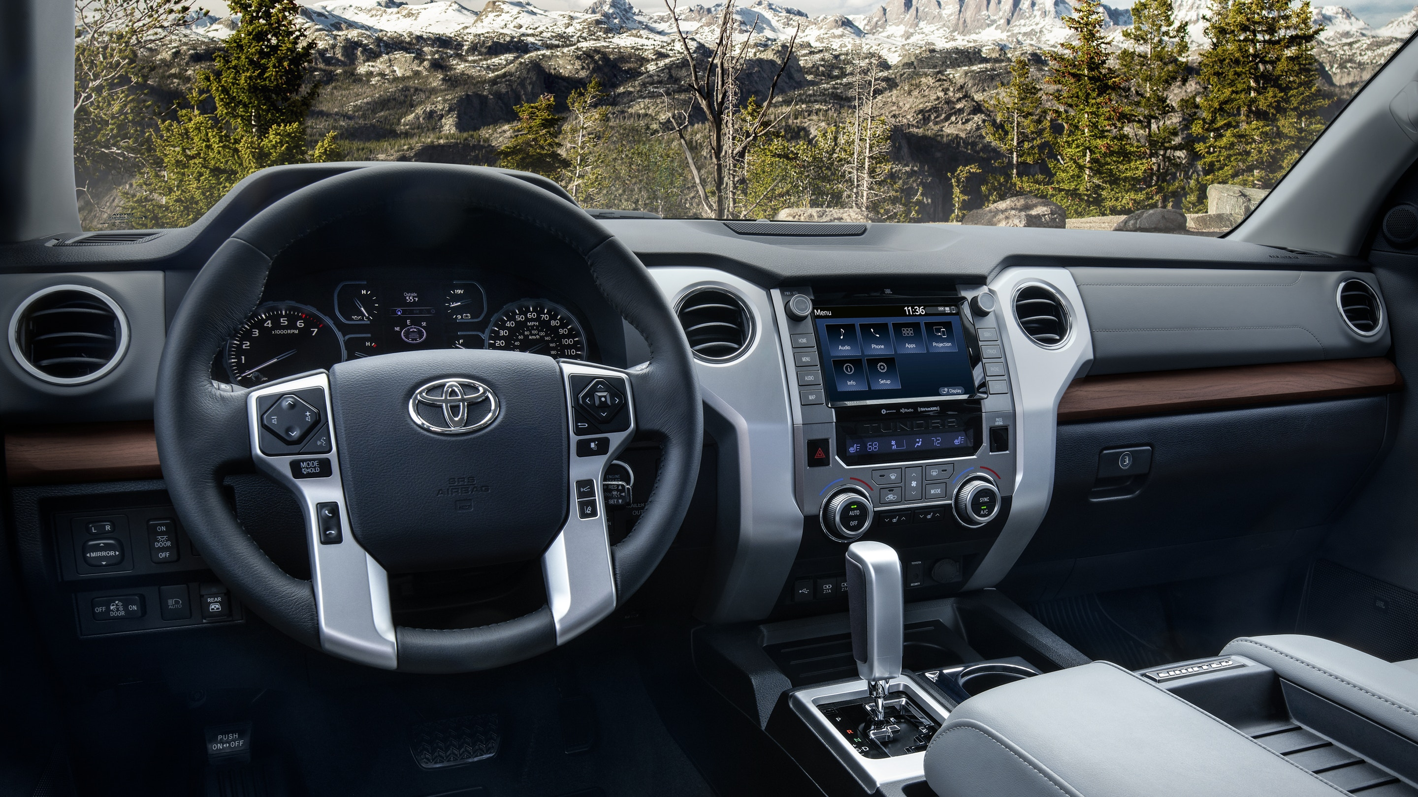 Steering Wheel in the 2020 Tundra