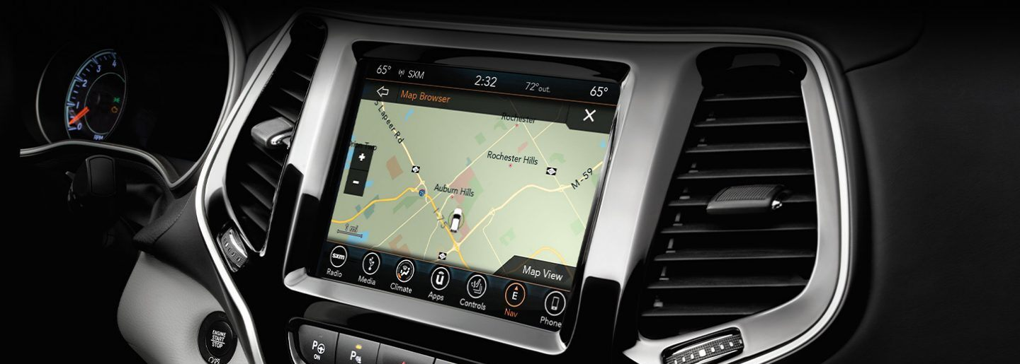 Touchscreen in the 2020 Cherokee