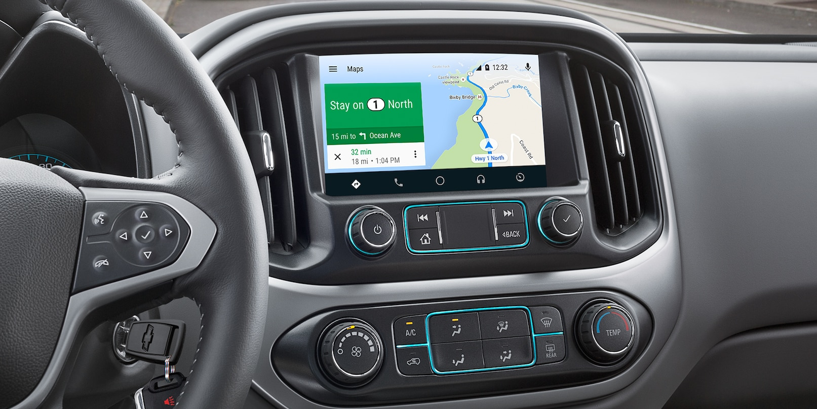 Touchscreen in the 2020 Colorado