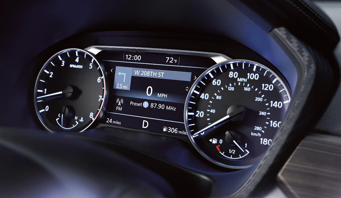 2020 Nissan Altima 7-Inch Advanced Drive-Assist Display