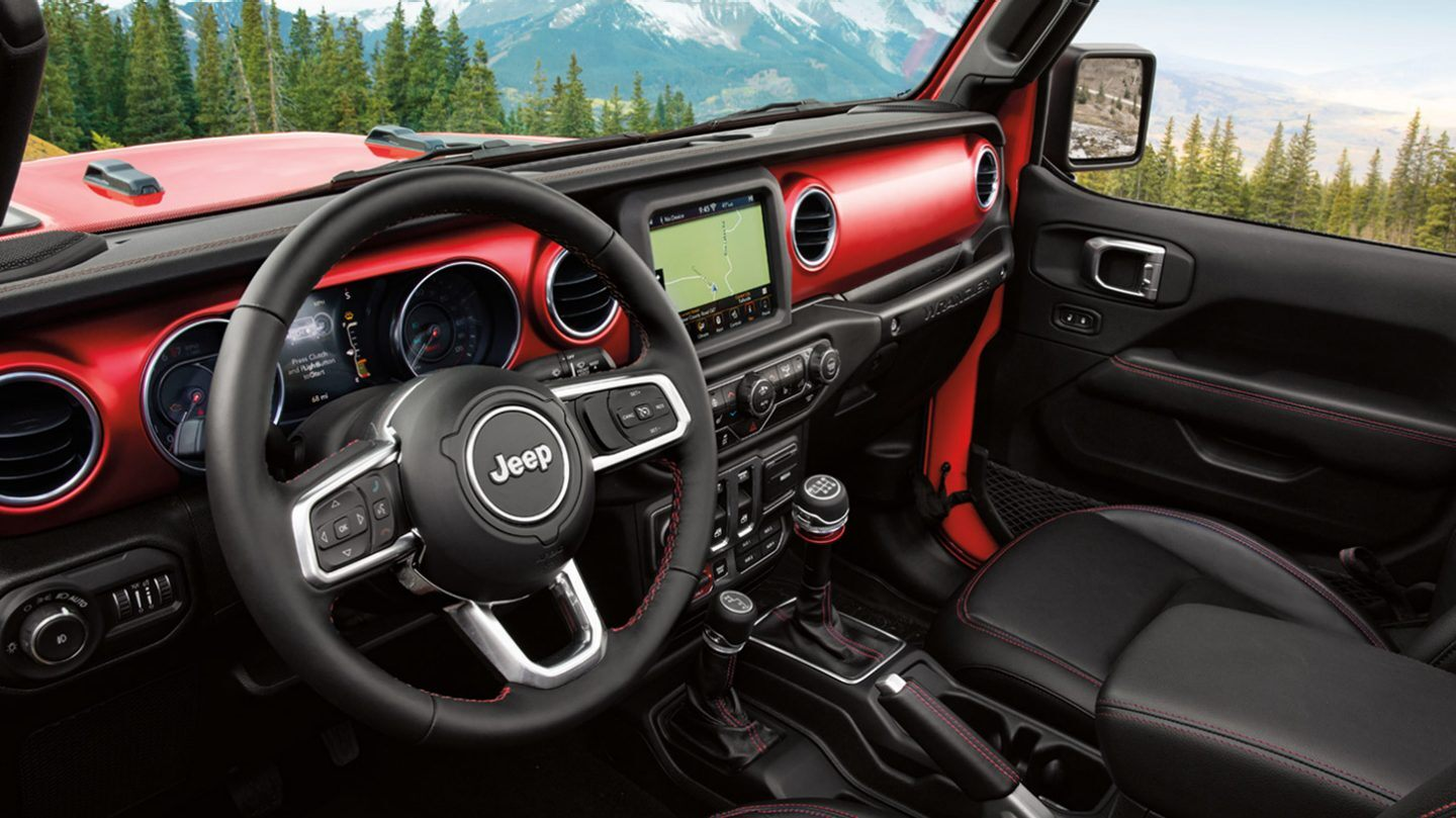 Interior of the 2020 Jeep Wrangler Unlimited