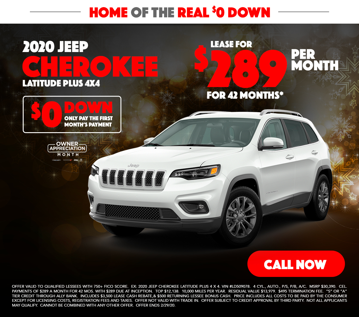 2019 Jeep Cherokee Lease Special