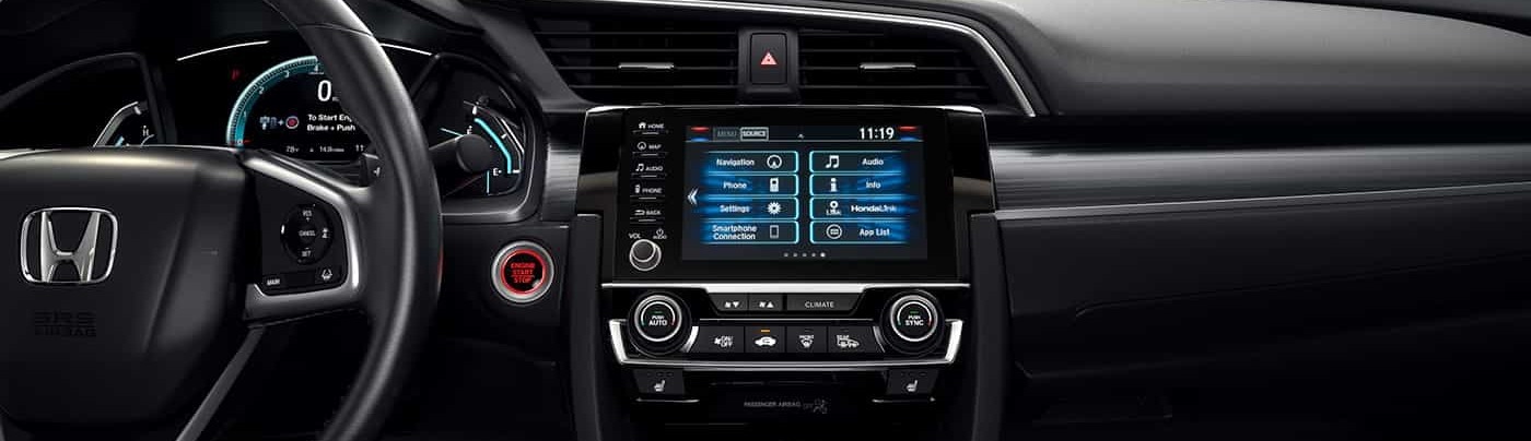 The High-Tech Dashboard of the 2020 Honda Civic