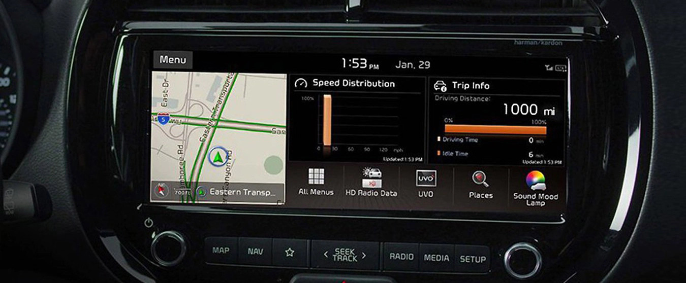 Infotainment in the 2020 Soul