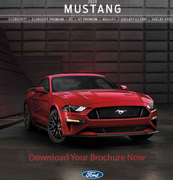 2020 Ford Mustang Brochure Download from Joe Cotton Ford