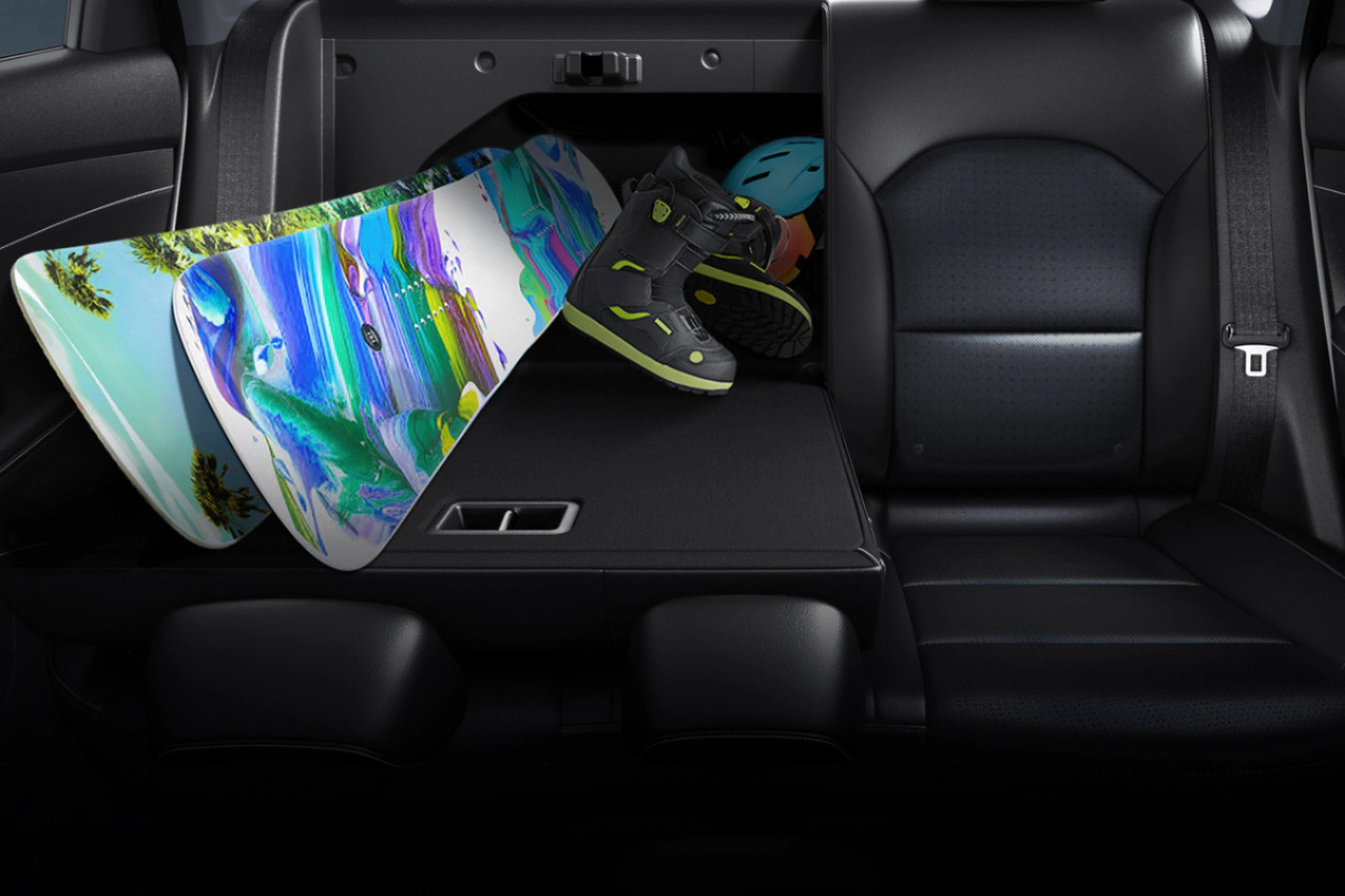 60/40 Split Rear Seat in the 2020 Forte
