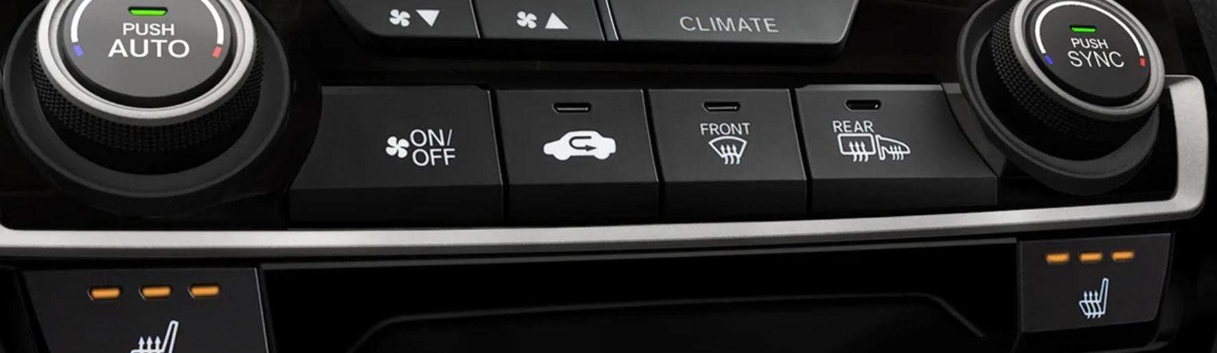 2020 Honda Civic Climate Control System