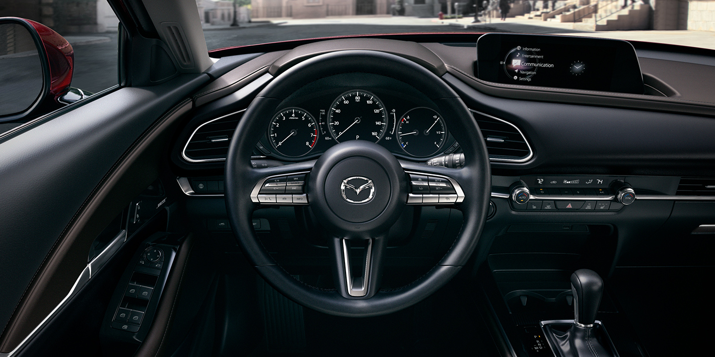 Interior of the 2020 MAZDA CX-30