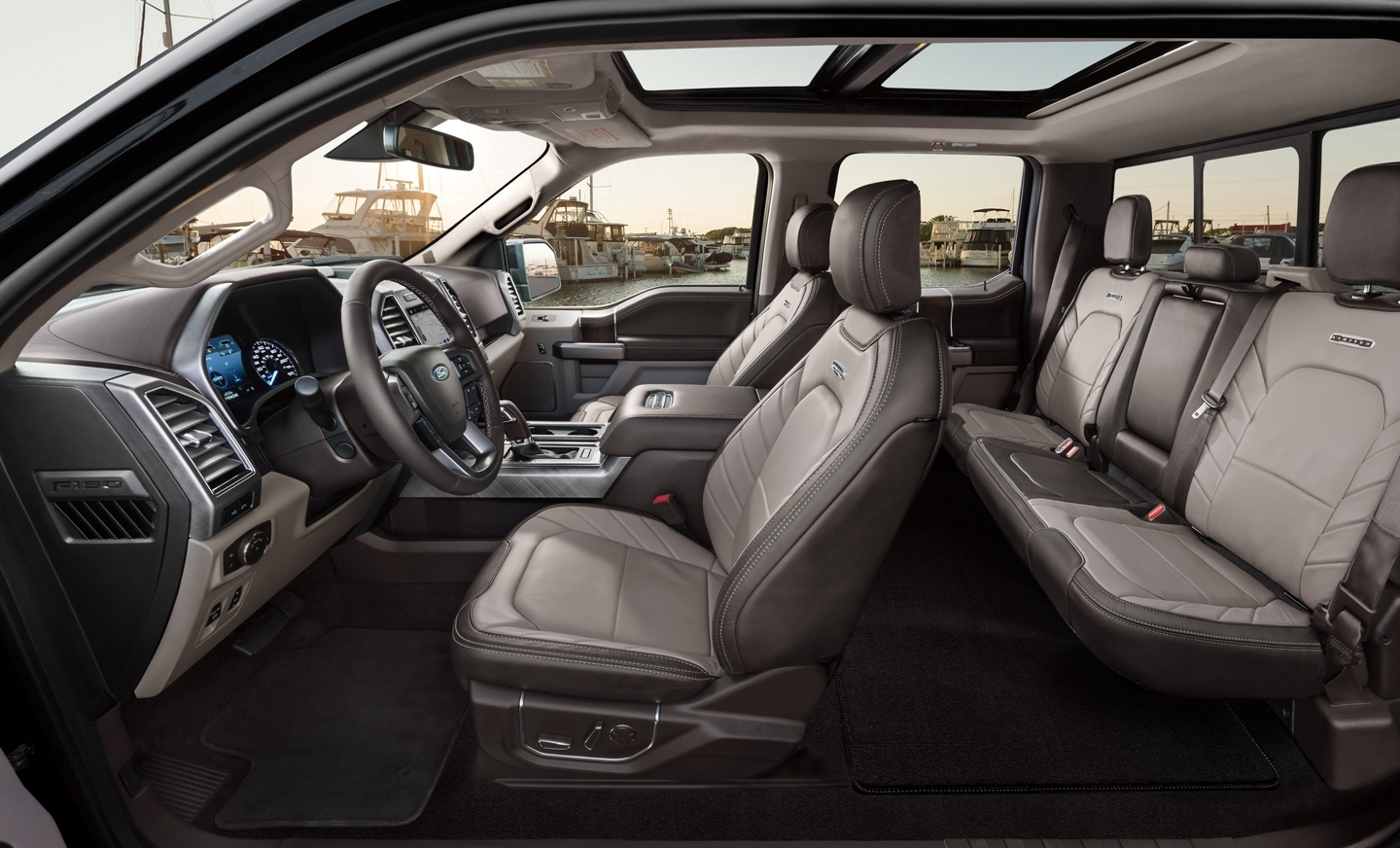 Interior of the 2020 Ford F-150