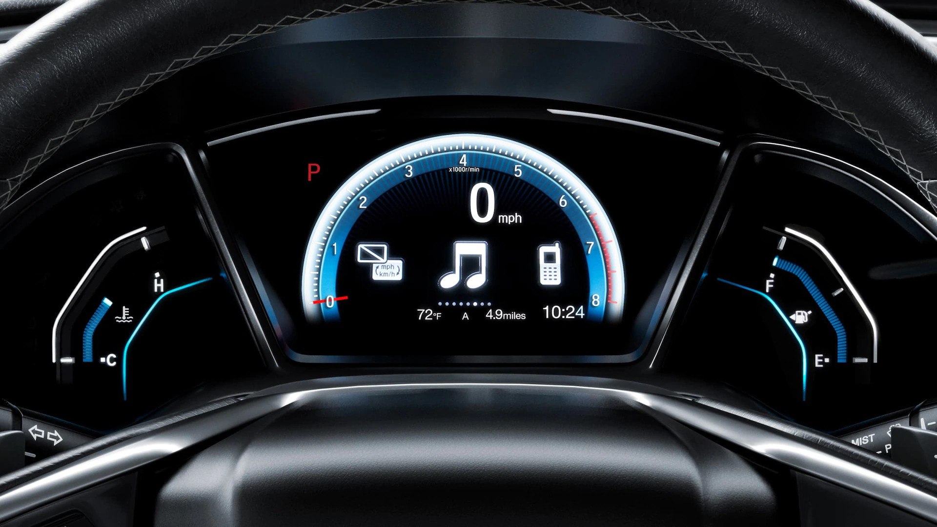 Instrument Cluster in the 2020 Civic