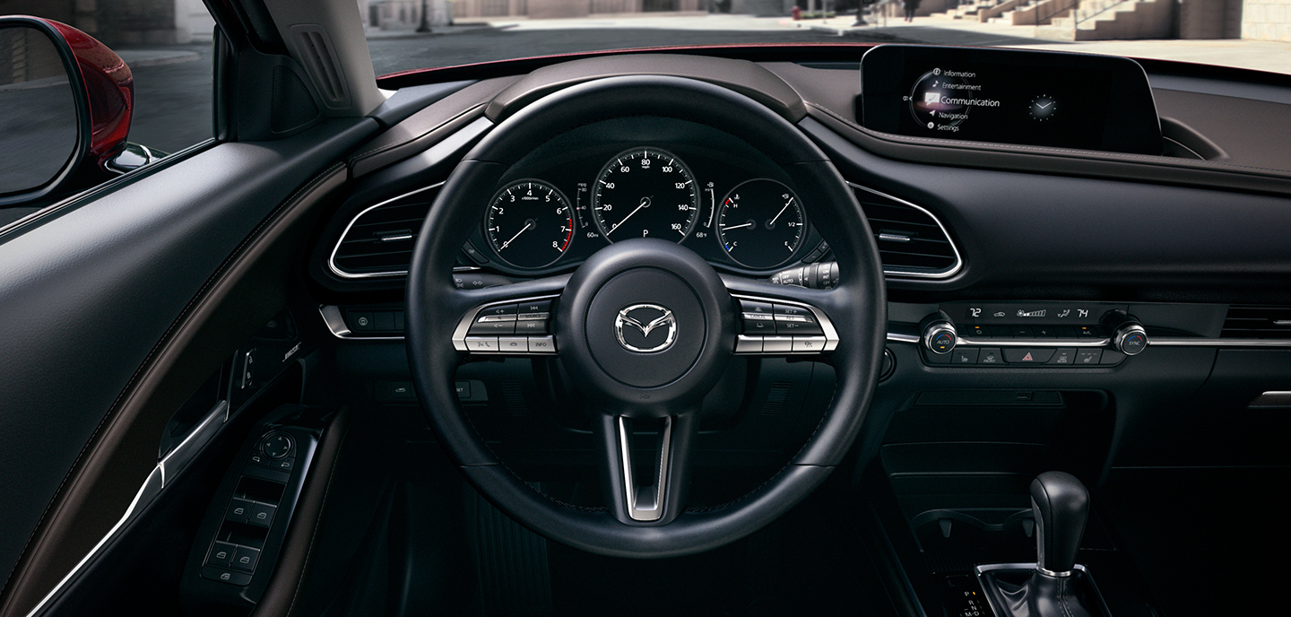 Steering Wheel of the 2020 MAZDA CX-30
