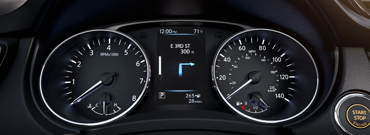 2020 Rogue Sport Instrument Panel