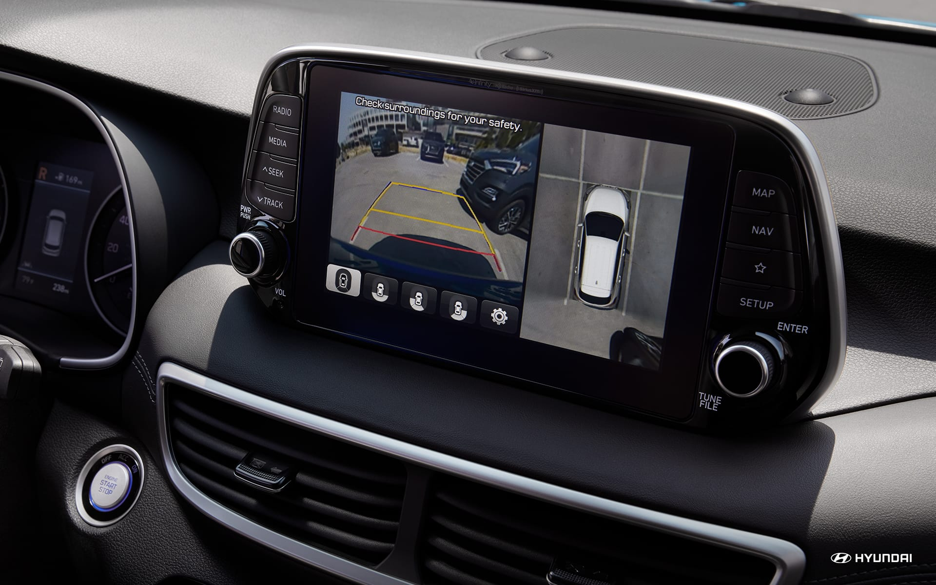 Touchscreen in the 2020 Tucson
