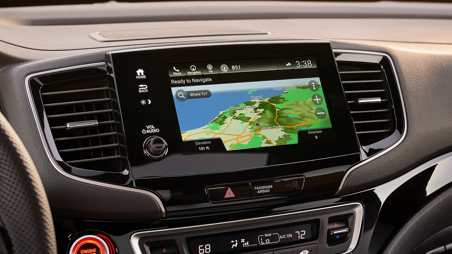 Available Navigation in the 2020 Honda Passport