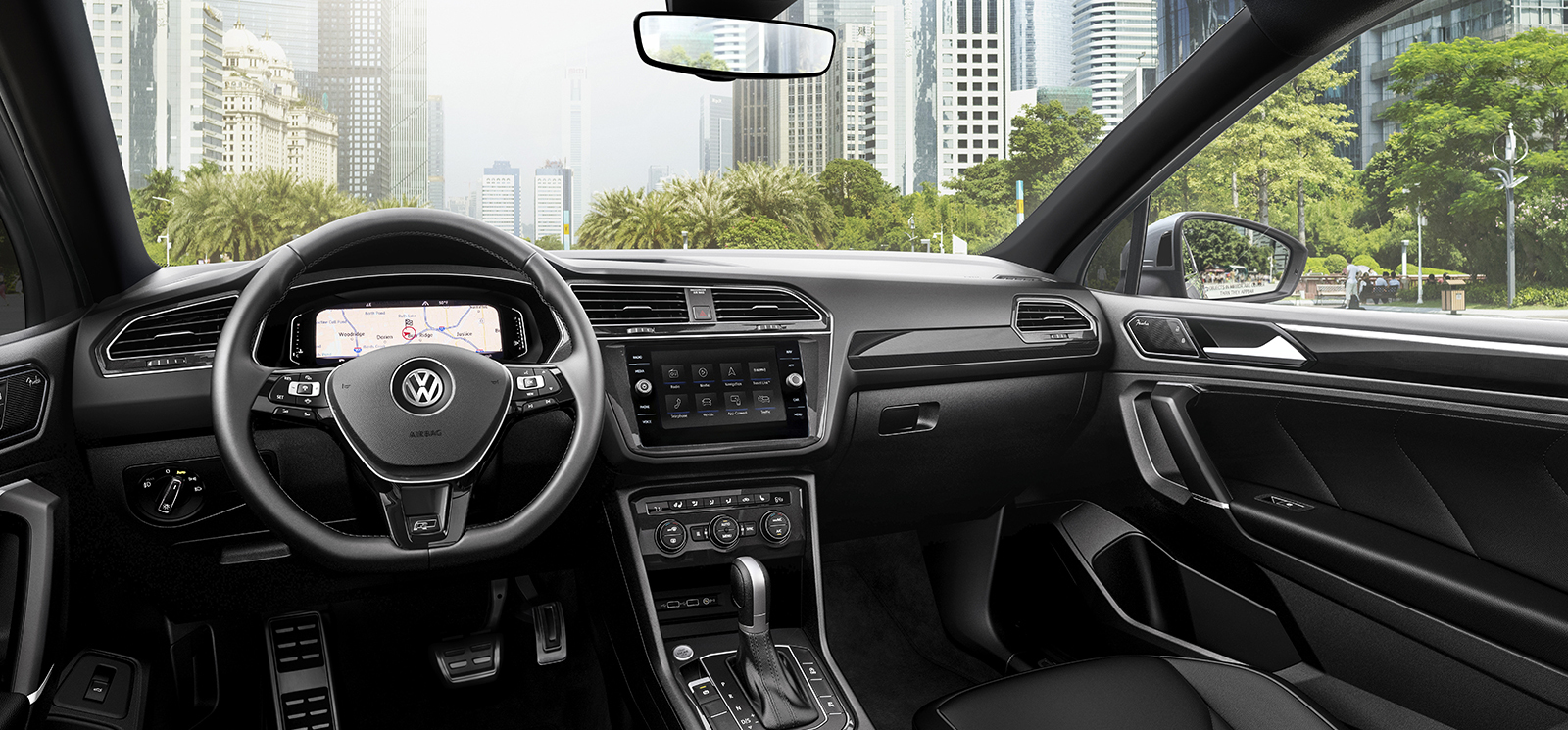 Interior of the 2020 VW Tiguan