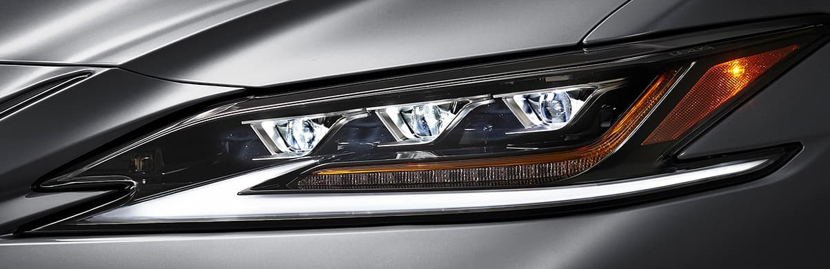 2020 ES 350 Triple-Beam LED Headlights