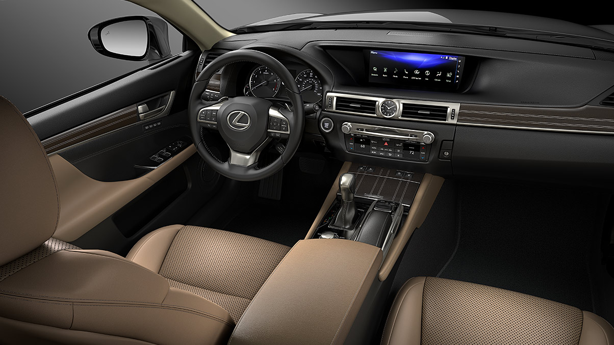 Interior of the 2020 Lexus GS 350