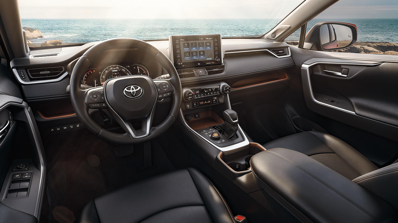 Interior of the 2020 Toyota RAV4 Hybrid