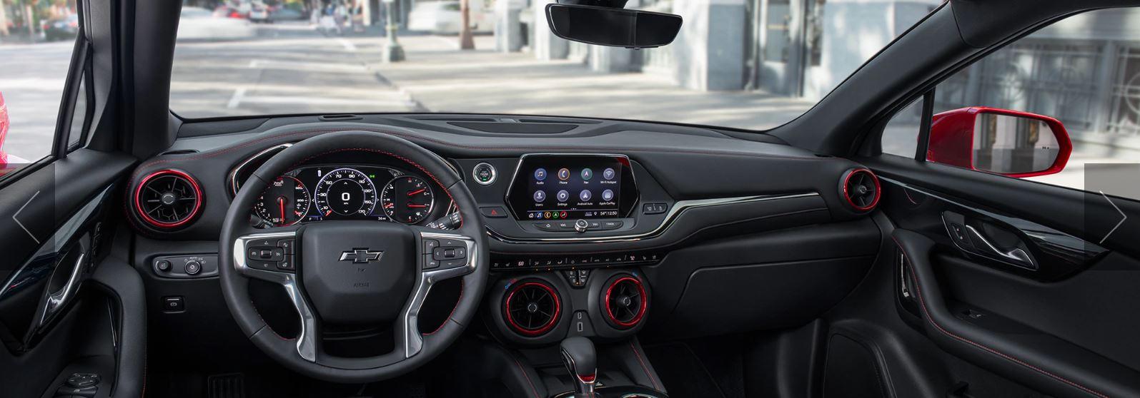Interior of the 2020 Chevrolet Blazer