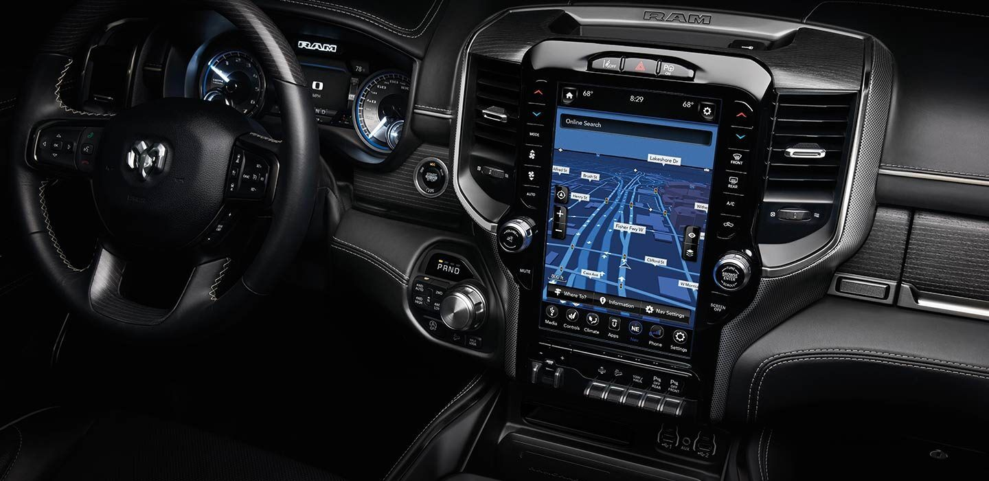 Available 12-inch Touchscreen in the 2020 Ram 1500