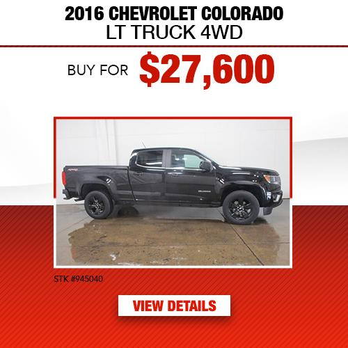 2016 Chevrolet Colorado LT Truck 4WD