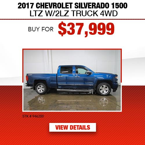 2017 Chevrolet Silverado 1500 LTZ Truck 4WD