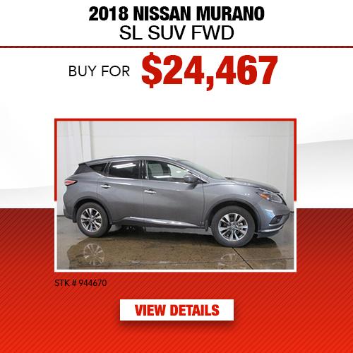 2018 Nissan Murano SL SUV FWD