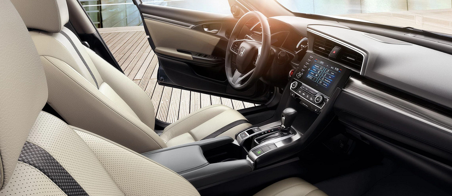 Cabin of the 2020 Honda Civic