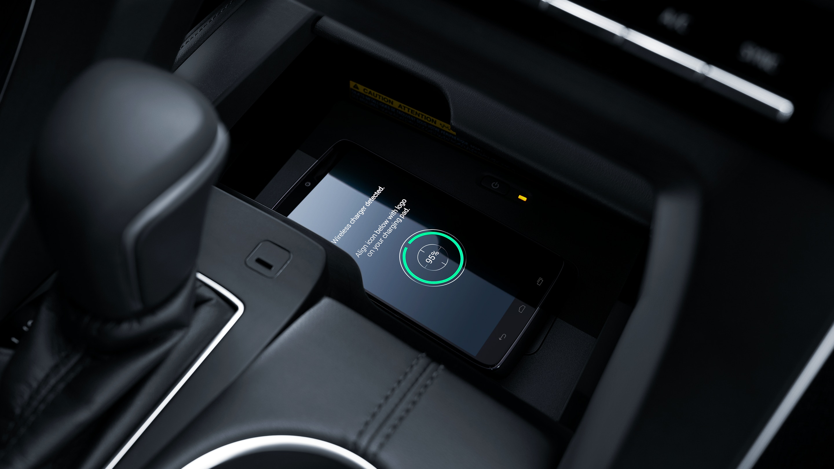 Wireless Charger in the 2020 Avalon