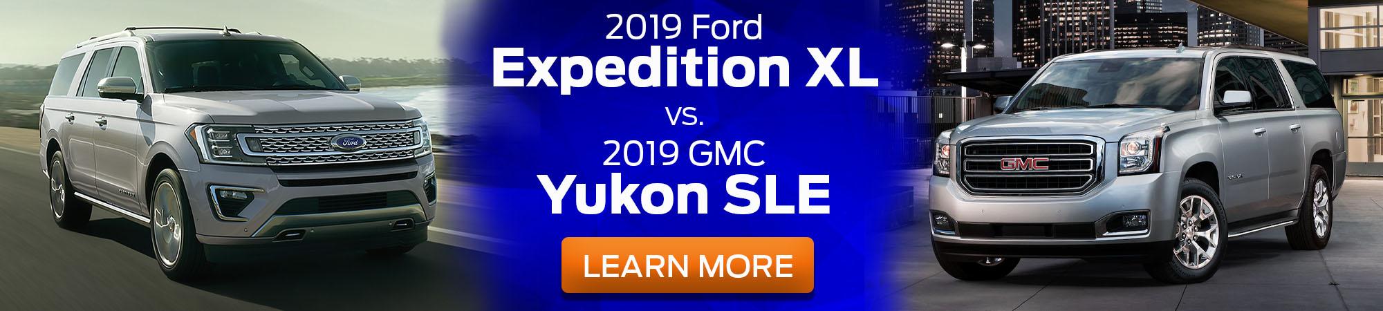 2019 Ford Expedition XL v 2019 GMC Yukon SLE