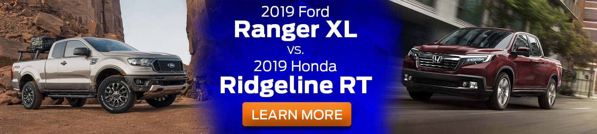2019 Ford Ranger XL v 2019 Honda Ridgeline RT