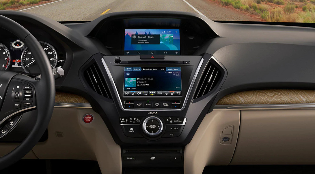 Interior of the 2020 Acura MDX