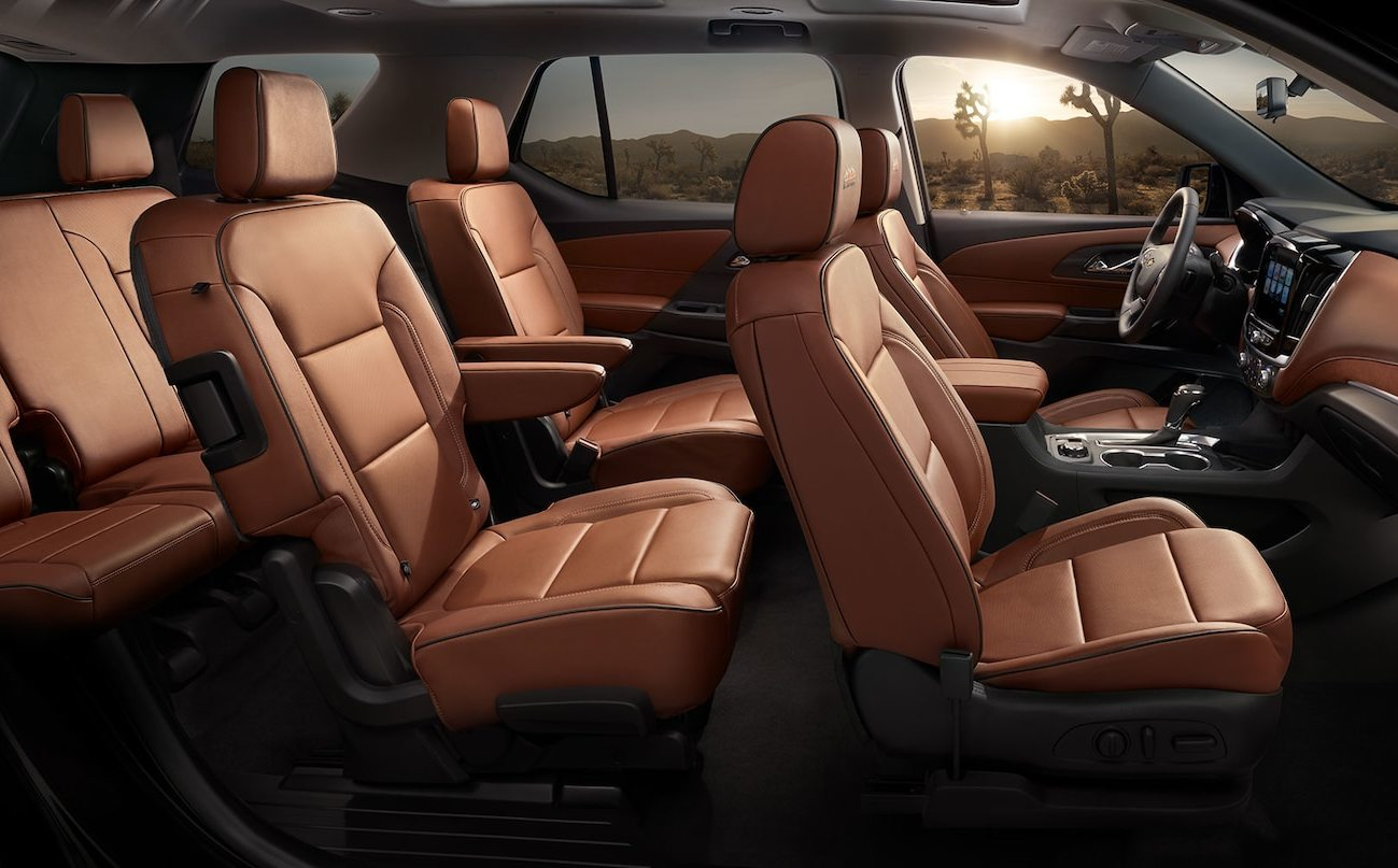 Cabin of the 2020 Chevrolet Traverse