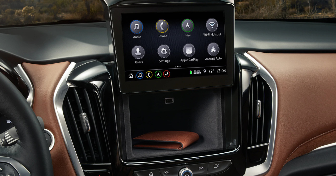 Touchscreen Display in the 2020 Traverse