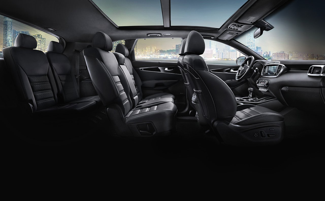 Interior of the 2020 Kia Sorento