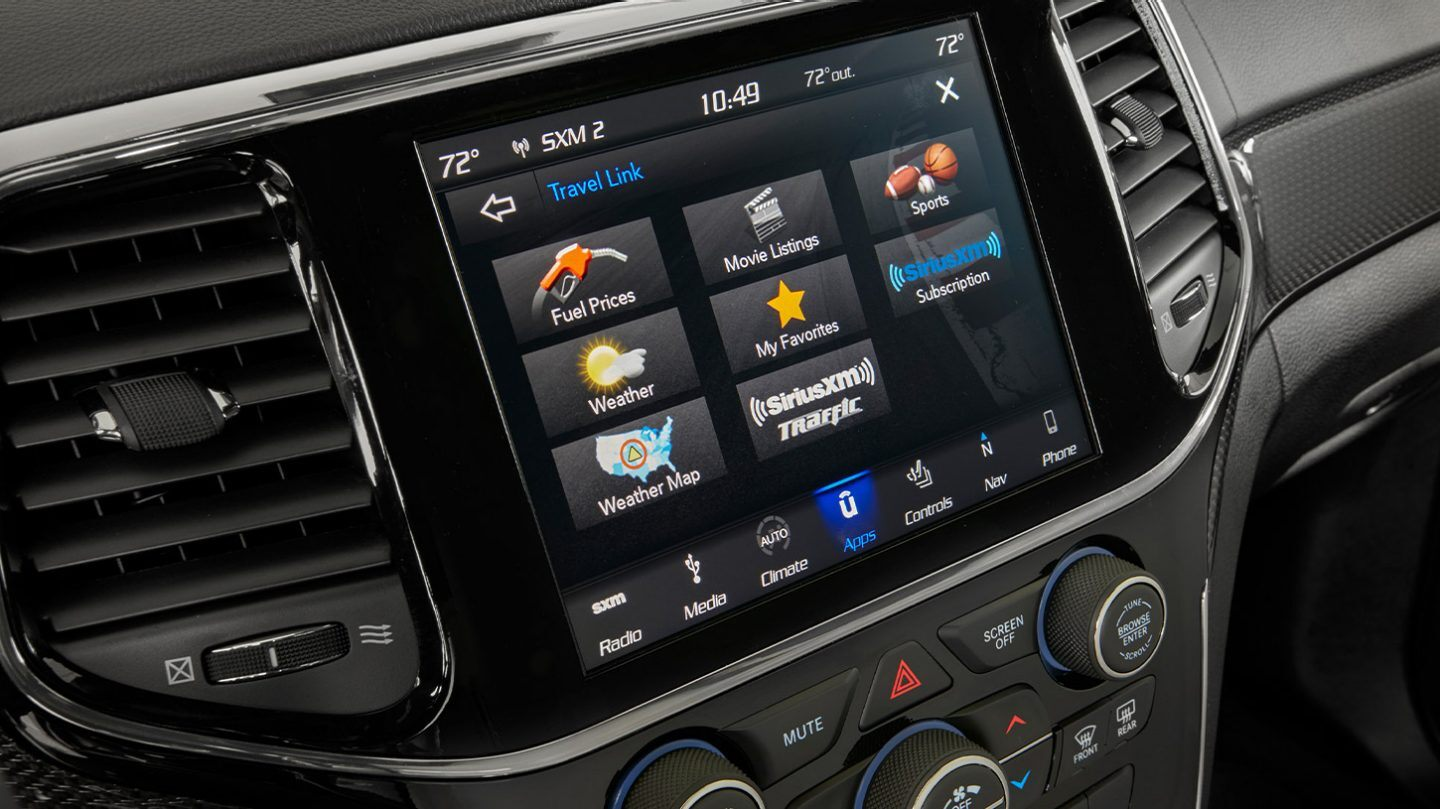 Touchscreen in the 2020 Grand Cherokee