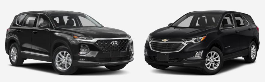 Compare the New 2019 Hyundai Santa Fe vs Chevrolet Equinox