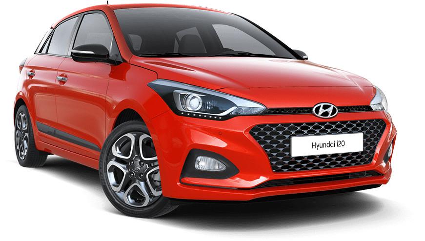 Hyundai i20 rood voorkant   Autobedrijf Noteboom