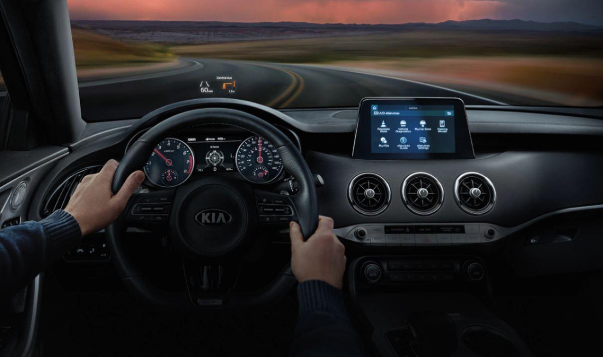 Interior of the 2020 Kia Stinger