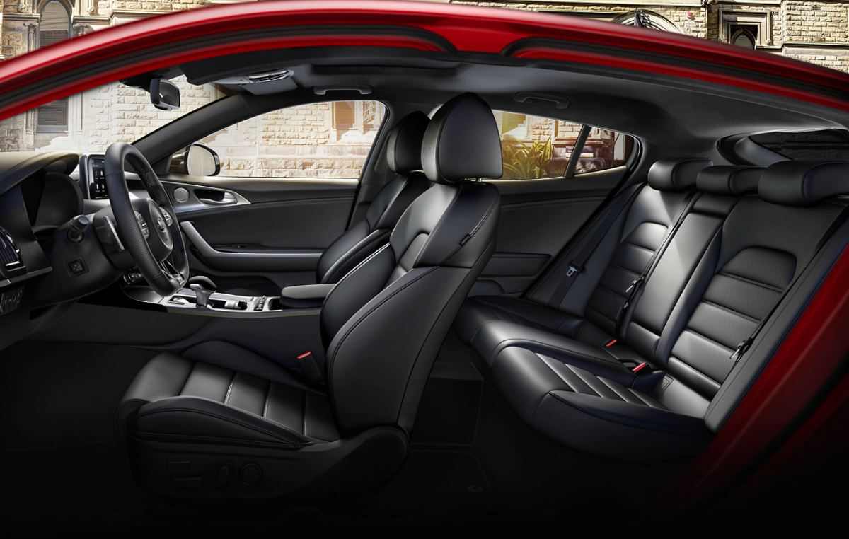 Interior of the 2020 Kia Stinger