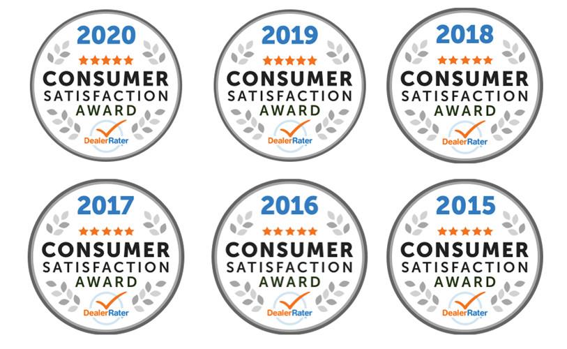 Anderson Toyota DealerRater Awards