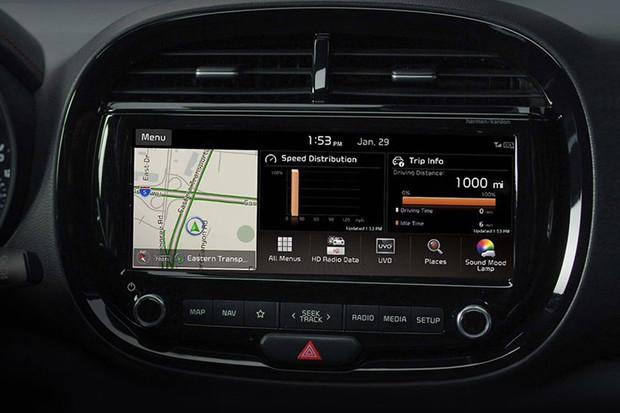 Touchscreen in the 2020 Kia Soul