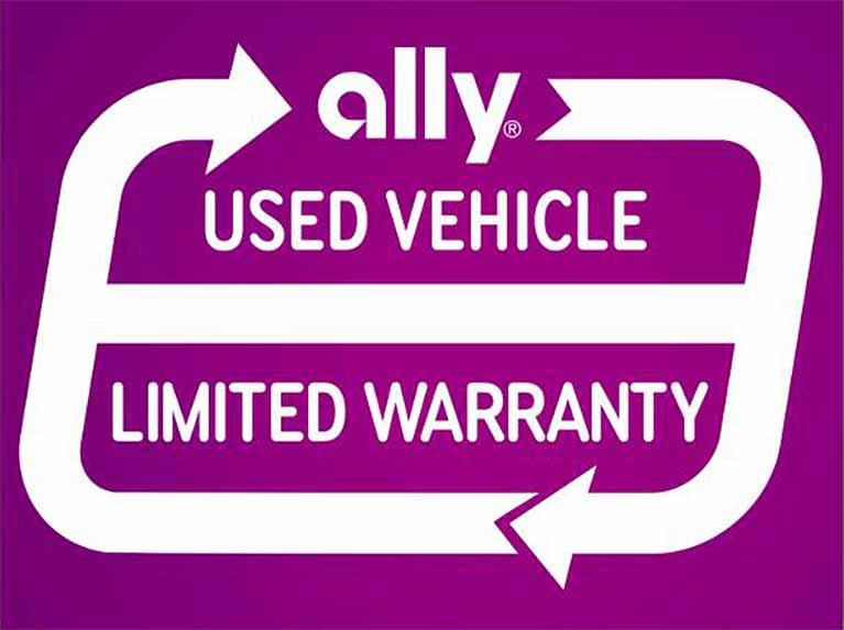 Ally Used Vehicle limited warranty logo